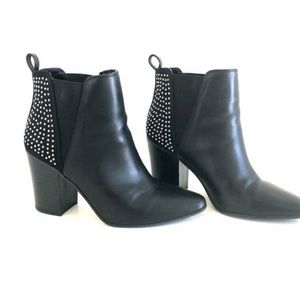 Aldo A+ Black Studded Back Pull On Bootie Sz. 7.5